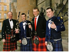 Alan, Bryan, Stewart, Tom & David Make up The Piping Team